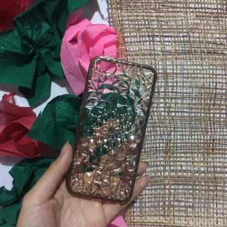 TRANSPARENT JELLY FLORAL CASE Iphone 5/5s