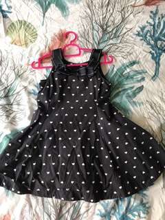 Gymboree navy heart print dress