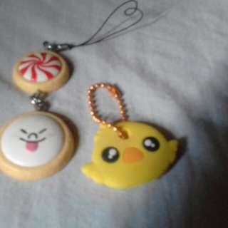 Korean Cookie Gashapon + Chick Keyholder