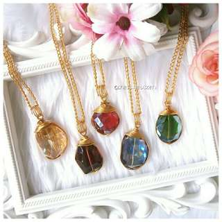 Glass Crystal Necklace