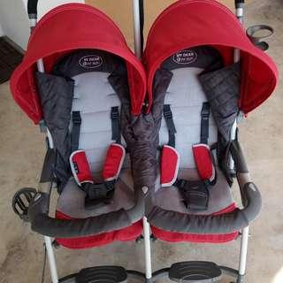 Twin stroller - Stroller berkembar
