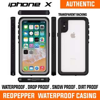 CLEARANCE!! iphone X WATERPROOF CASING. IN STOCK. AUTHENTIC REDPEPPER