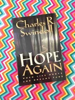 Charity Sale! Hope Again by Charles R. Swindoll book
