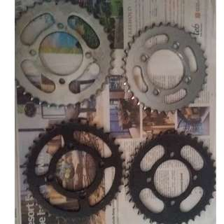 Assorted sprockets