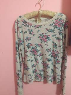 Floral pullover