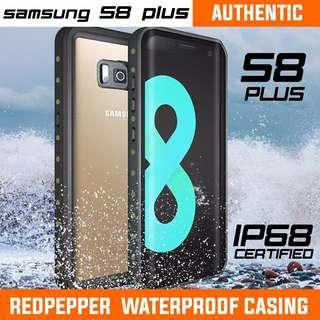 SAMSUNG S8 PLUS WATERPROOF CASING AUTHENTIC REDPEPPER. S8+