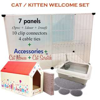 FREE DELIVERY - Kitten / Cat Cage Set with Accessories