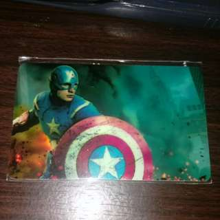 Captain america ezlink card sticker free postage