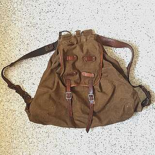 WW2 WWII German Soldier Luftwaffe Canvas Backpack/ RUCKSACK