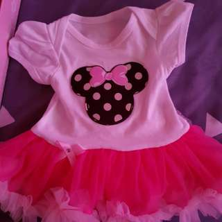 Minnie mouse dress set (0-3 months)