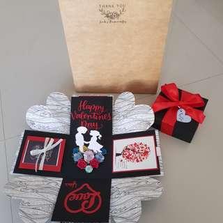 Valentines Day Handmade Box Card