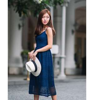 Worn Once Lollyrouge Straits Atelier Dress (Navy) - M