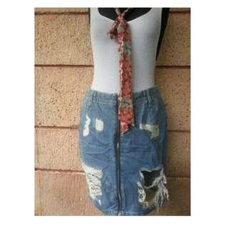 H&M tattered skirt