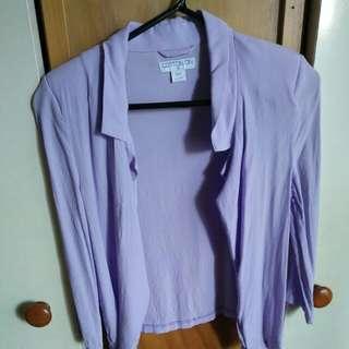 Lilac cropped blazer