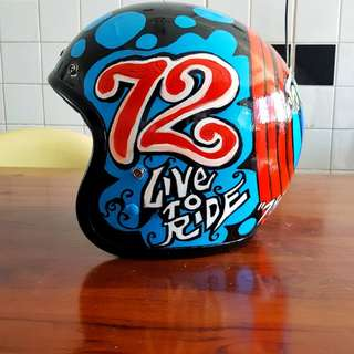 bored of old helmets? 5th happy customer bell custom 500