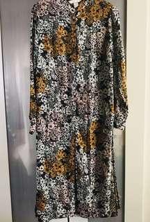 H&M Floral Long Shirt
