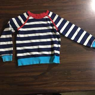 Hanna Anderson Blue Stiped Sweater