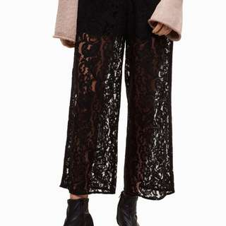 *Aritzia* Little Moon (2)lace wide leg pants