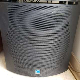 Home Theater (amp, center speaker, subwoofer)