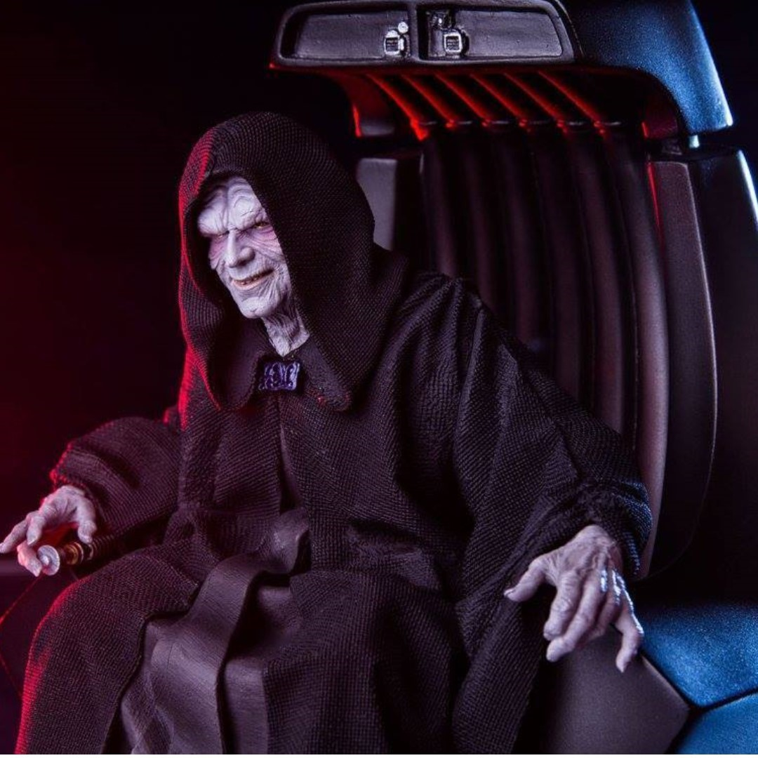 photo photo photo photo photo & 1/10 Iron Studios Polystone Statue Emperor Palpatine in Throne Chair ...