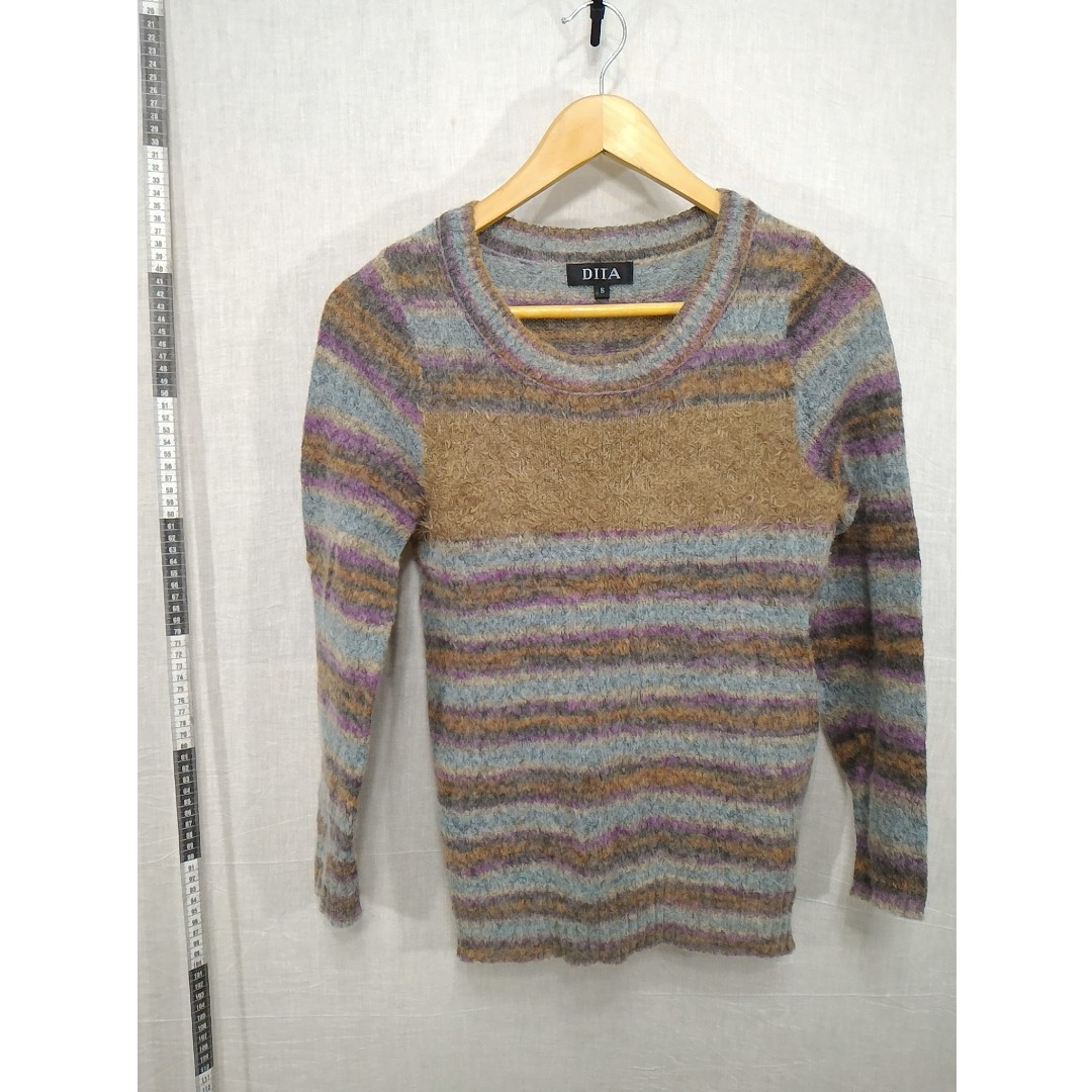 11118132-DITA colorful stripe sweater多彩色橫條紋毛衣