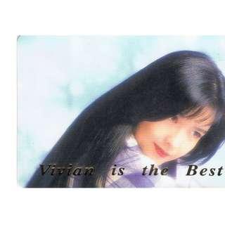 T-78,NO.JK9115,周慧敏 ,彩照下有金字-VIVIAN  IS THE BEST!背面曲詞-情迷,全購系列-原價6折