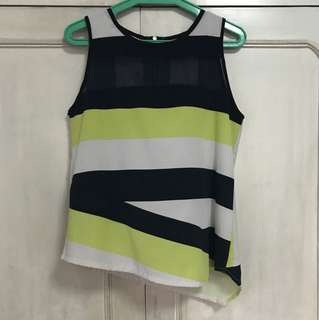 Plains and Prints yellow/black striped top