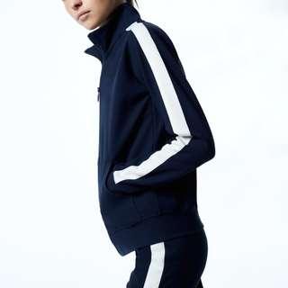 *Aritzia* (S) The Constant zip up sweater in Navy
