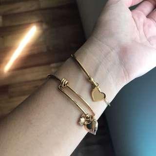 Charm bracelet and Bangle