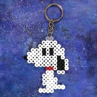 Snoopy Hamabeads keychain