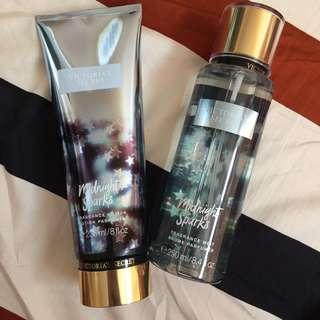 Victoria's Secret Midnight Sparks Lotion & Perfume