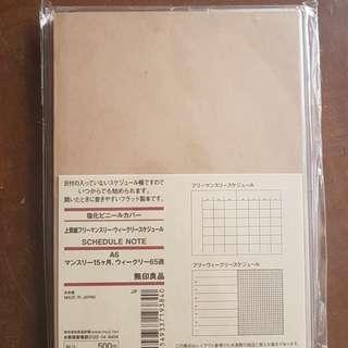 Blank A6 Muji Schedule Note