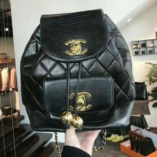 SOLD 售出Vintage Chanel 中古黑色背包