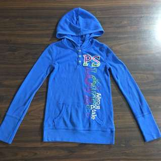 PS by Aeropostale Blue Hooded Jacket