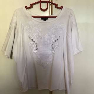 Embroidery White Top