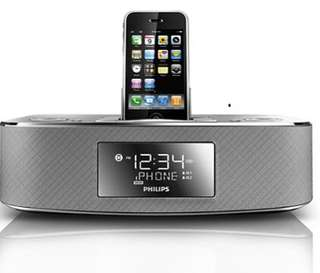Philips Radio Clock & docking system for early generation iPod/ iPhone with remote controller (DC290)