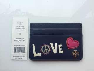 Tory Burch Love Peace Card Holder