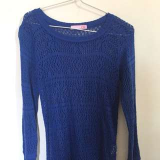 Exit Blue Sweater