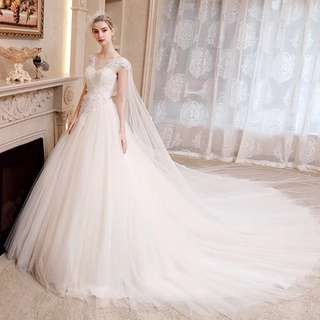 2018 spring new arrival wedding gown with beautiful lace