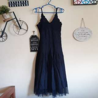 Long Navy Blue Beach Dress