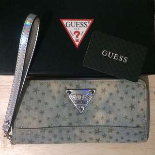 Guess Washed Denim with Hologram Wallet