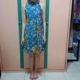 Blue Batik Dress