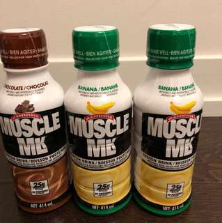 Unpacked Muscle Milk x3