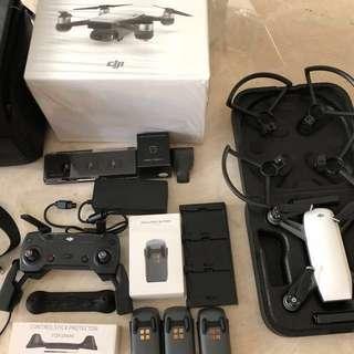 Dji Alpine Spark Combo + PolarPro cinéma series ND Filters + Extra Battery