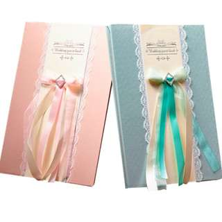 Wedding Guest Book - Tiffany (Pastel Green)