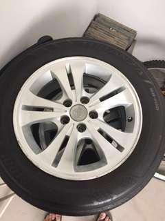 4 Toyata Sports Rim/Wheel with tyre
