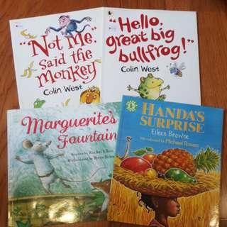 Set of 4 Children Books