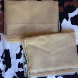 2 Gold Sheer Curtain for 350‼️