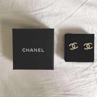 Chanel Double C Earrings (Gold)