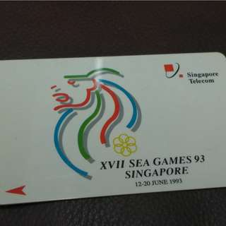 Old Singapore Phone Card - SEA Games